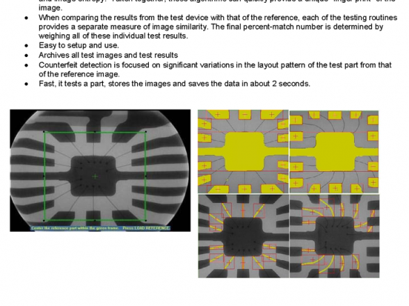 Counterfeit Electronic Component Detection: Implementation of x-ray inspection in conformity with DoD requirements